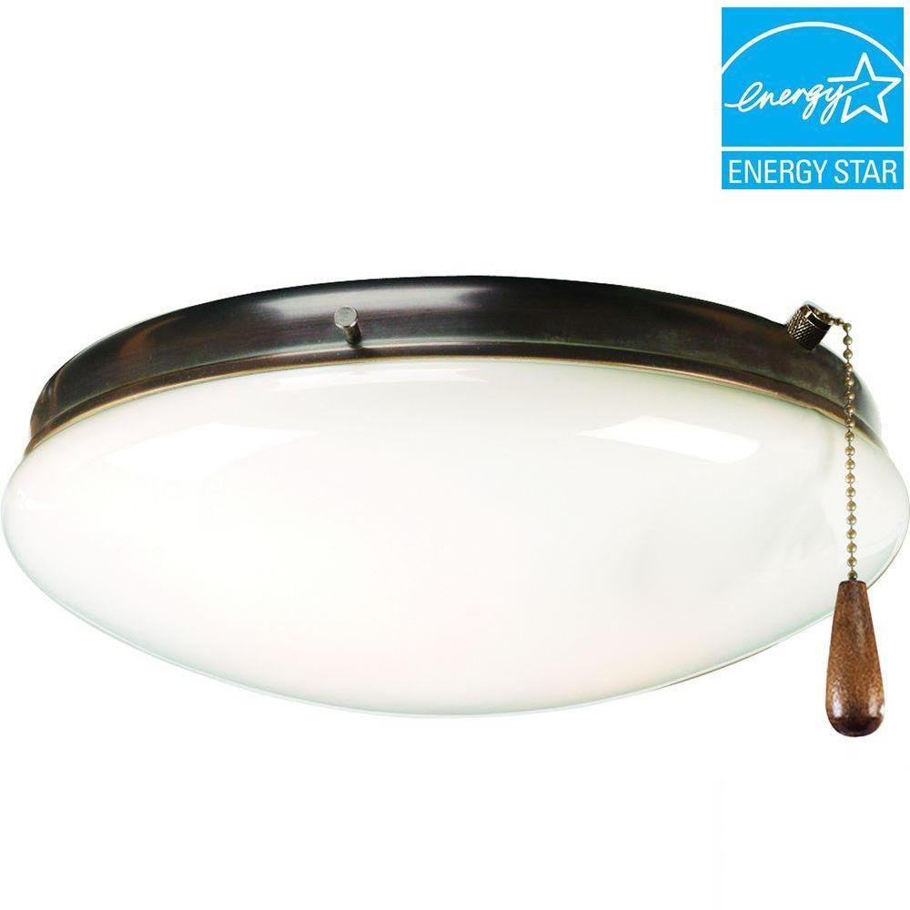 AirPro 2-Light Antique Bronze Ceiling Fan Light