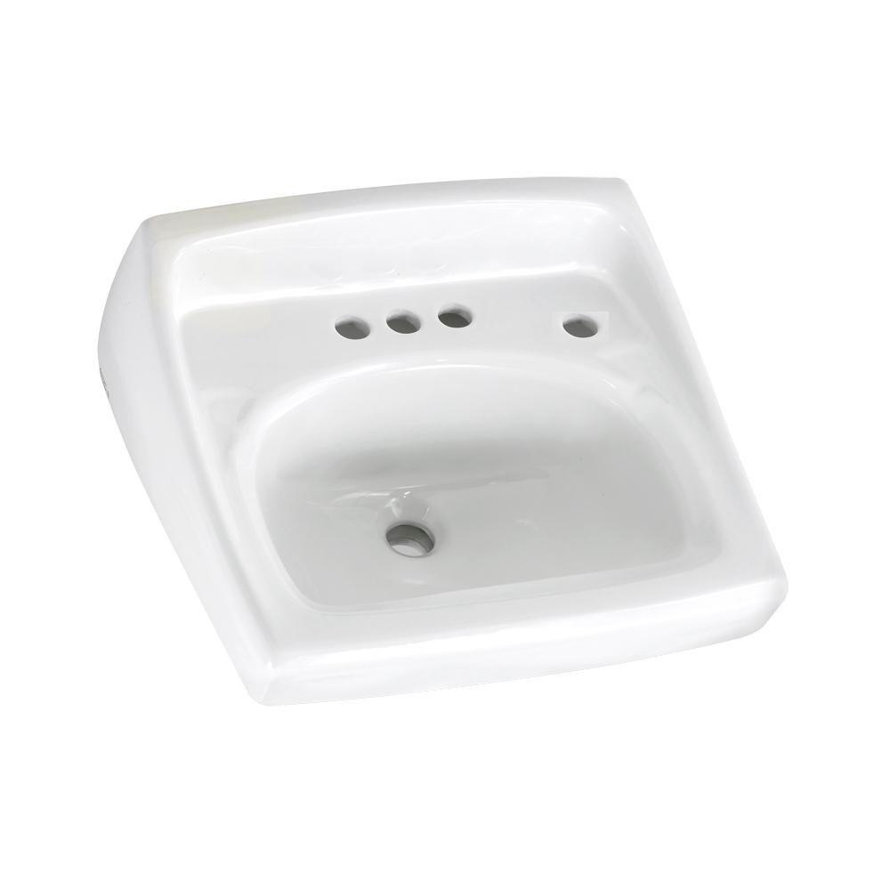 Glacier Bay Aragon Wall Mounted Bathroom Sink in White 13 0010 ADA   The Home  Depot. Glacier Bay Aragon Wall Mounted Bathroom Sink in White 13 0010 ADA