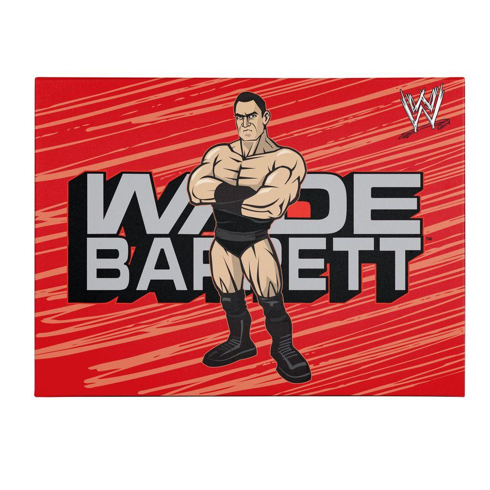 null 24 in. x 32 in. Officially Licensed Wade Barrett WWE Kids Canvas Art