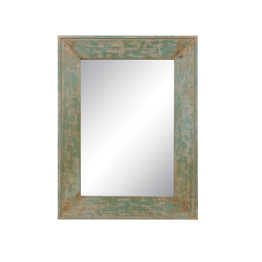Home decorators collection tristan distressed blue framed mirror 9933100310 the home depot Home decorators collection mirrors