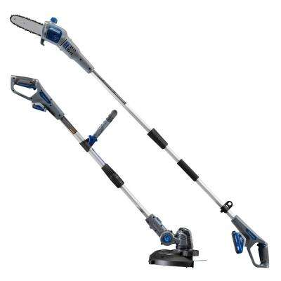 20-Volt Cordless String Trimmer/Wheeled Edger and Pole Saw Combo Kit (2-Tool) 2 Ah Battery and Rapid Charger Included