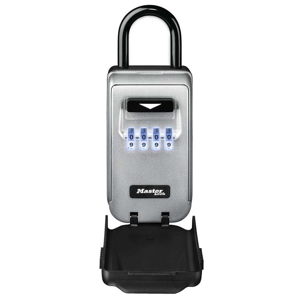 Safee Portable Light Up Dial Lock Box With Removable Shackle