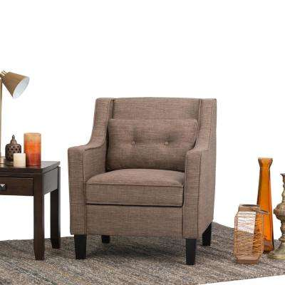 Ashland Fawn Brown Polyester Club Arm Chair