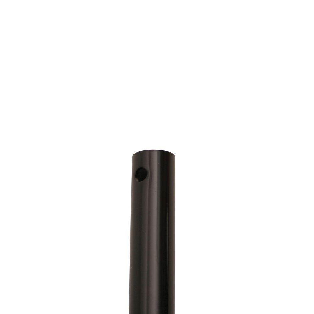 Yosemite Home Decor 72 in. Glossy Black Ceiling Fan Extension Downrod