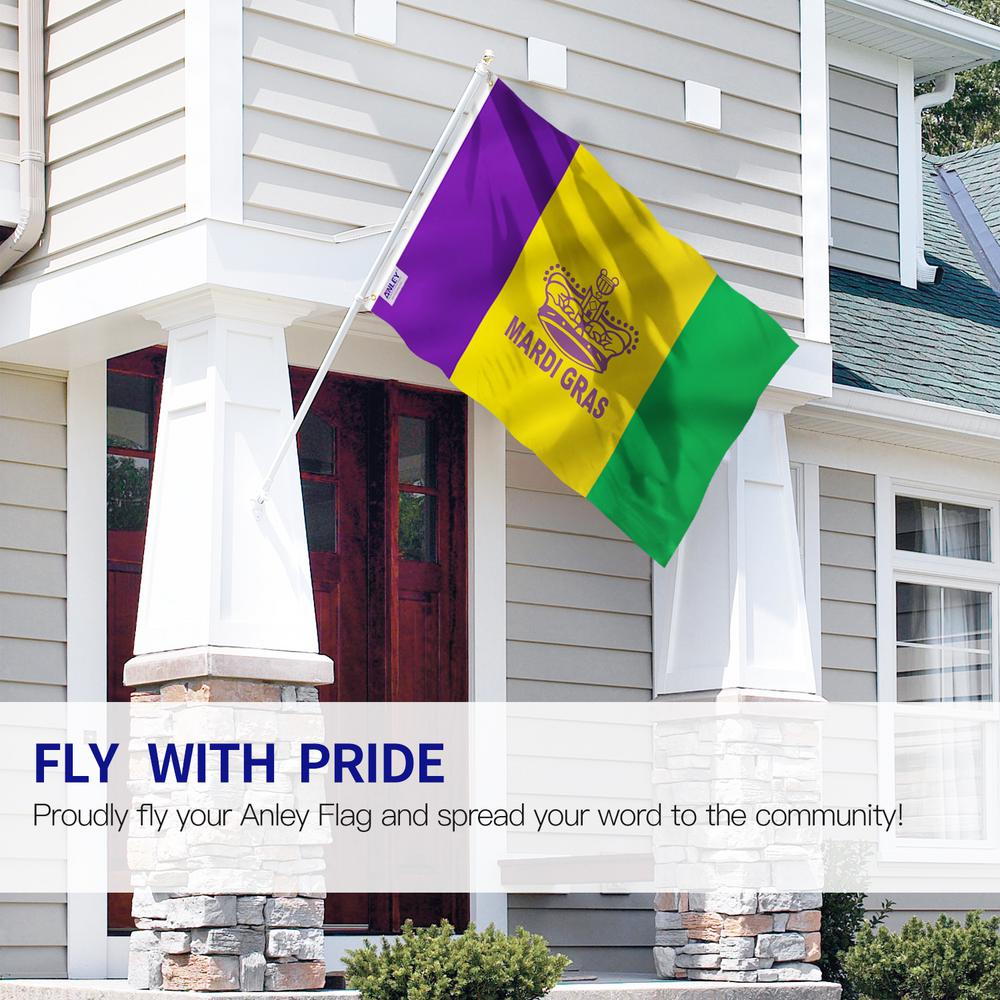 Anley Fly Breeze 3 Ft X 5 Ft Polyester Mardi Gras Flag