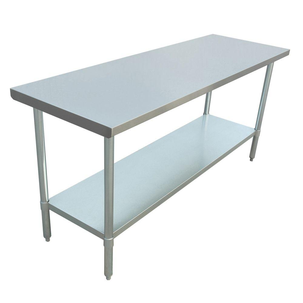Excalibur Stainless Steel Kitchen Utility Table-ET184F2448G - The ...