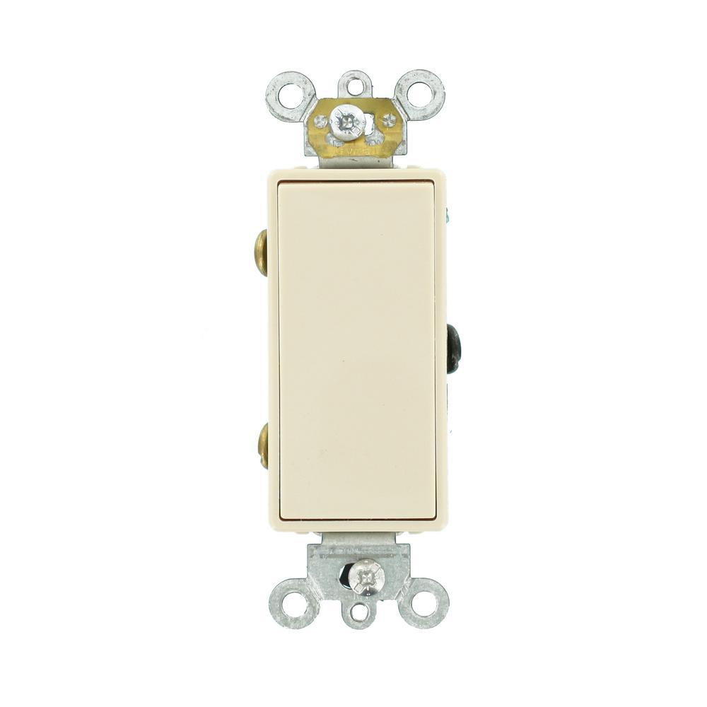 Leviton Decora Plus 20 Amp 3 Way Switch Light Almond R66 05623 2ts Brass