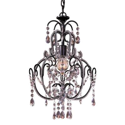 1-Light Taylor Bronze Mini Chandelier