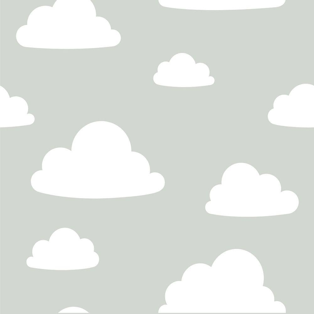 Nuwallpaper Grey Clouds Peel And Stick Wallpaper Nu1931 The Home