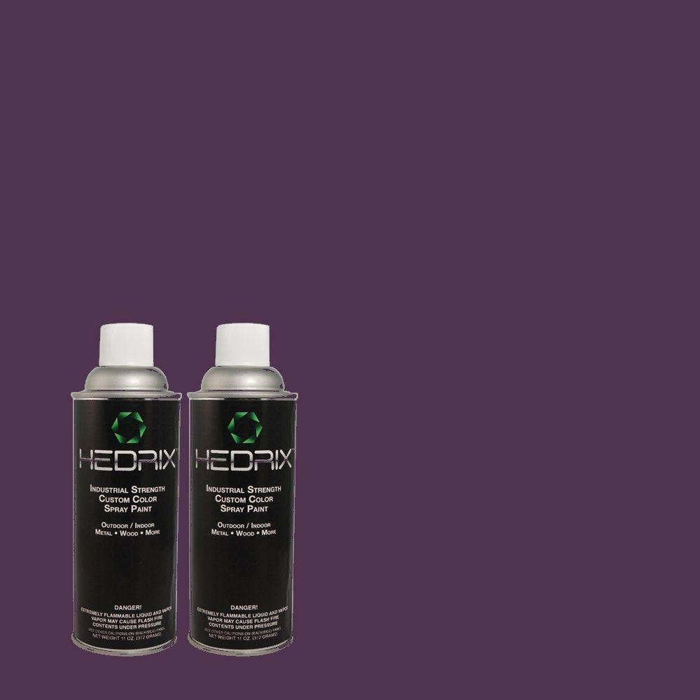 Hedrix 11 oz. Match of PPKR-45 Starlight Purple Semi-Gloss Custom Spray Paint (2-Pack)