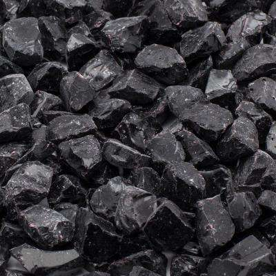 1/2 in. 10 lb. Medium Black Landscape Fire Glass