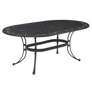 Sanibel 72 in. Black Oval Cast Aluminum Outdoor Dining Table