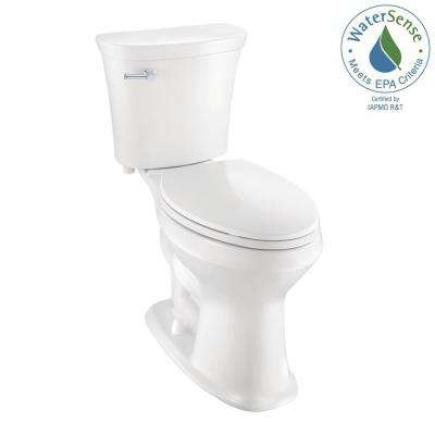 2-Piece 1.28 GPF Single Flush Elongated SuperClean Toilet in White