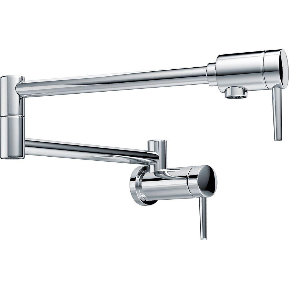 Delta Contemporary Wall Mounted Potfiller In Chrome 1165lf The