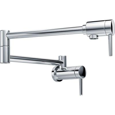 Contemporary Wall Mounted Potfiller in Chrome