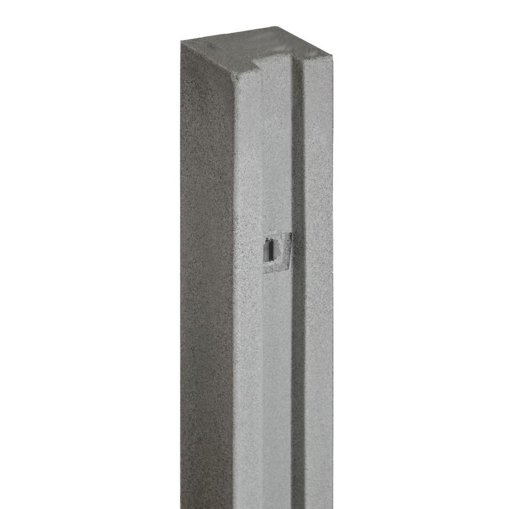 SimTek 5 in. x 5 in. x 8-1/2 ft. Gray Composite Fence Gate Post