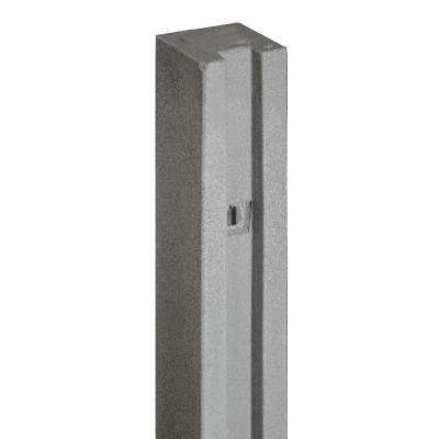 5 in. x 5 in. x 8-1/2 ft. Gray Composite Fence Gate Post