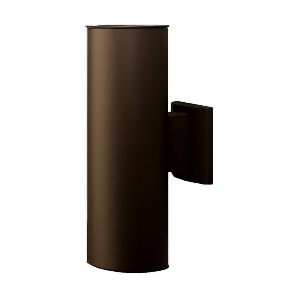 75-Watt 2-Light Bronze Outdoor Wall Lantern Sconce Column Light