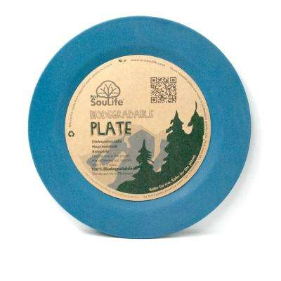 Bamboo 1-Piece Navy Dinner Plate (4-Pack)