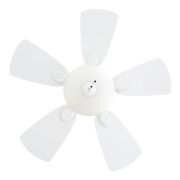 Watson 34 in. Indoor White Ceiling Fan with Light Kit Bundled with Handheld Remote Control