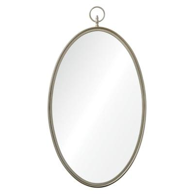 Medium Oval Silver Shatter Resistant Classic Mirror (40 in. H x 22 in. W)