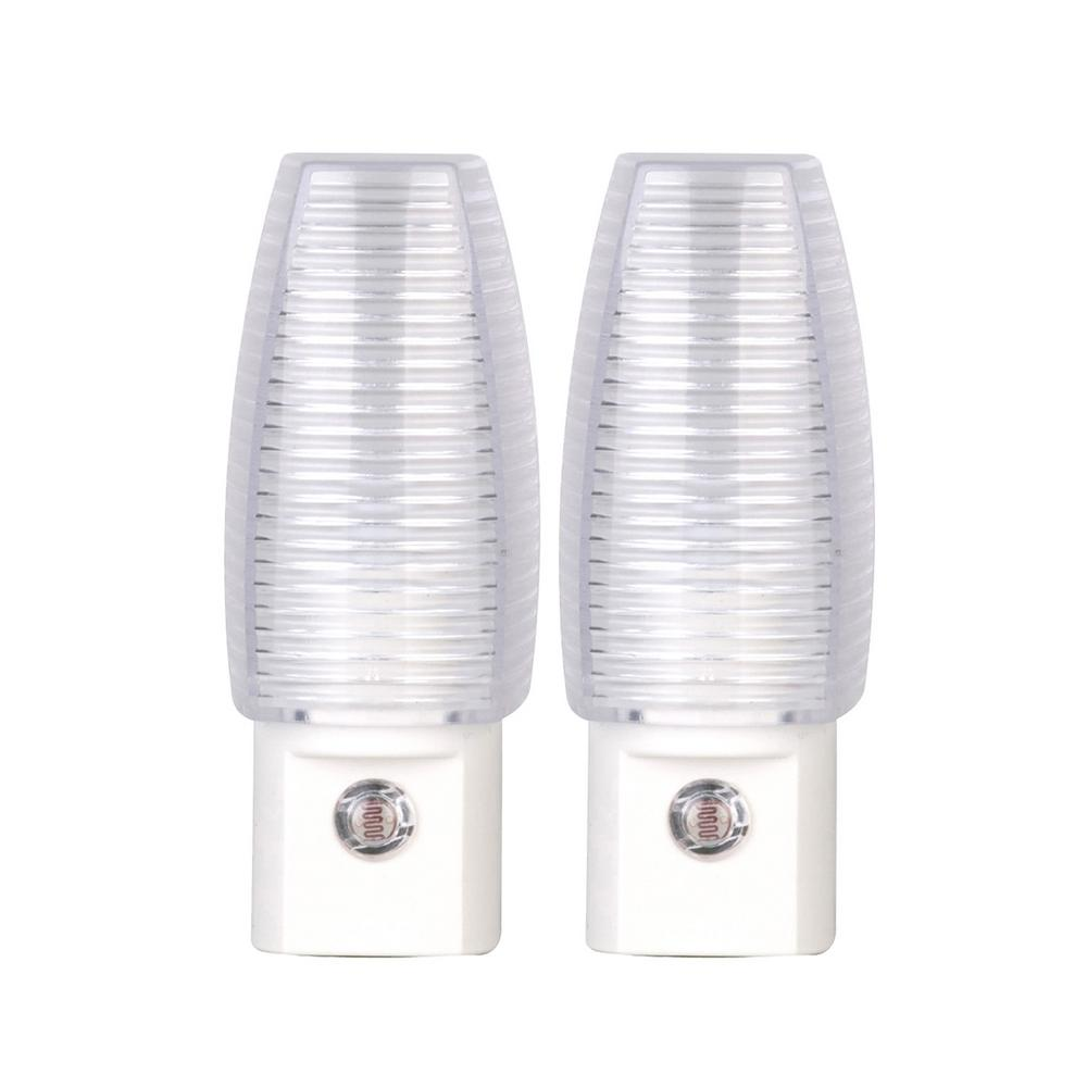 White Automatic Dusk to Dawn LED Night Light (2-Pack)