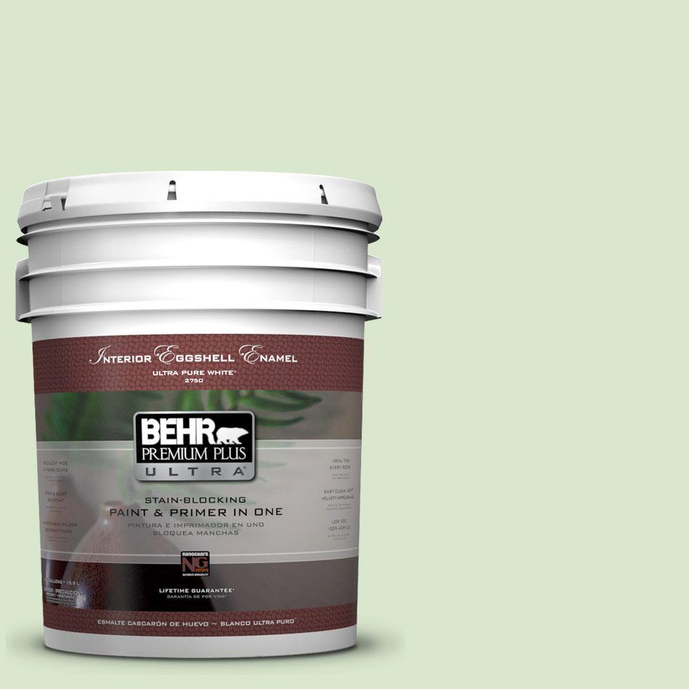 BEHR Premium Plus Ultra 5-gal. #T12-18 Minty Frosting Eggshell Enamel Interior Paint