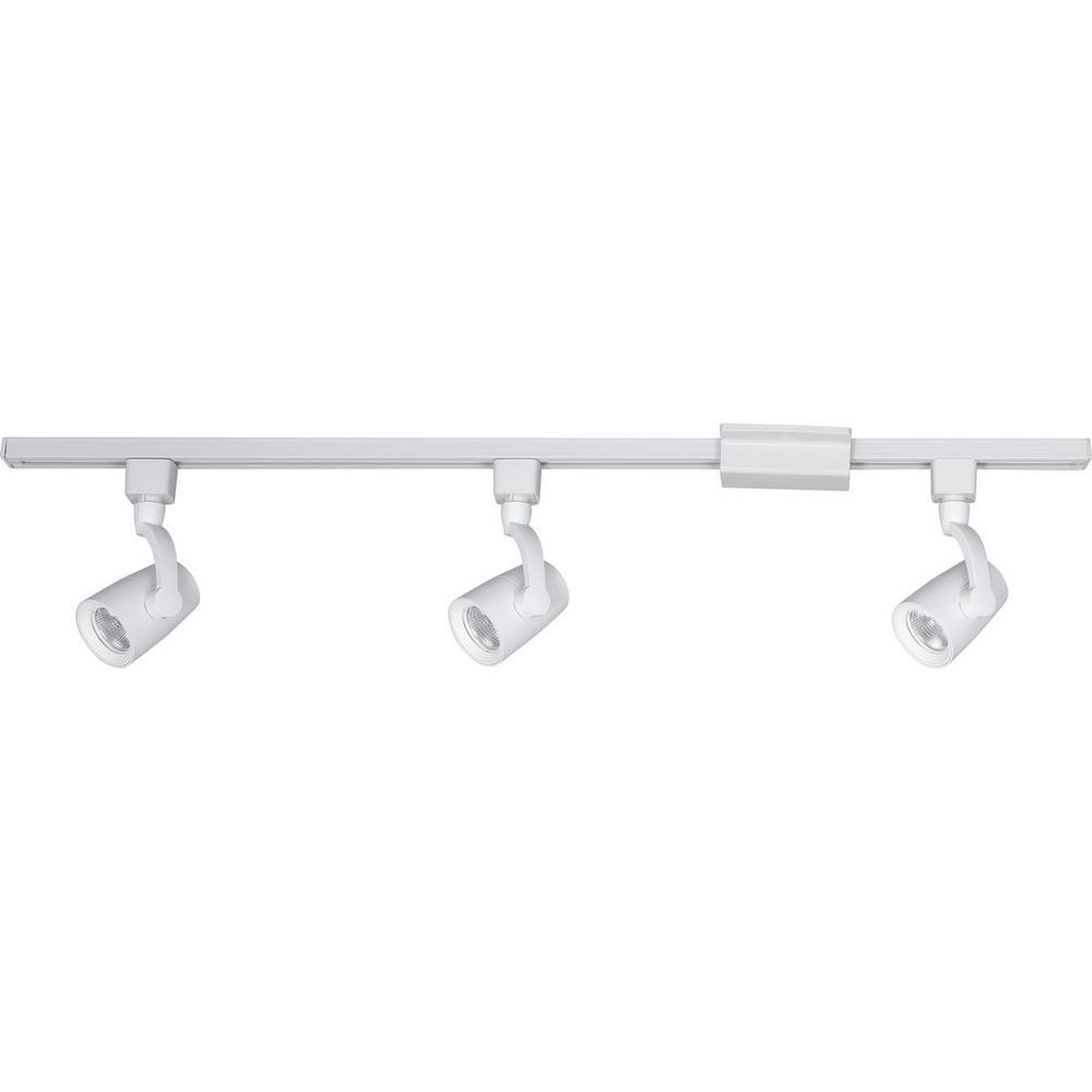 2 Ft Track Lighting Kit: Progress Lighting 4 Ft. 3-Light White Integrated LED Track