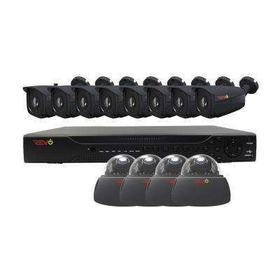 Aero HD 16-Channel 5MP 2TB Surveillance System with 12 Wired Cameras