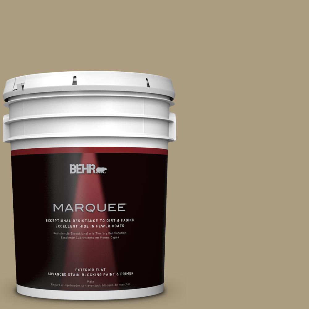 BEHR MARQUEE 5-gal. #ECC-26-3 Cactus Hill Flat Exterior Paint