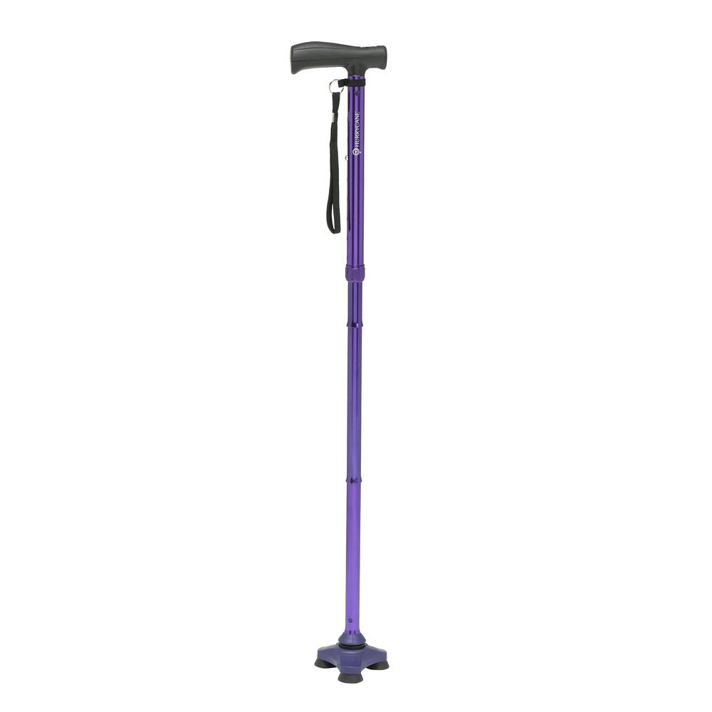Freedom Edition Folding Cane with T-Handle in Purple