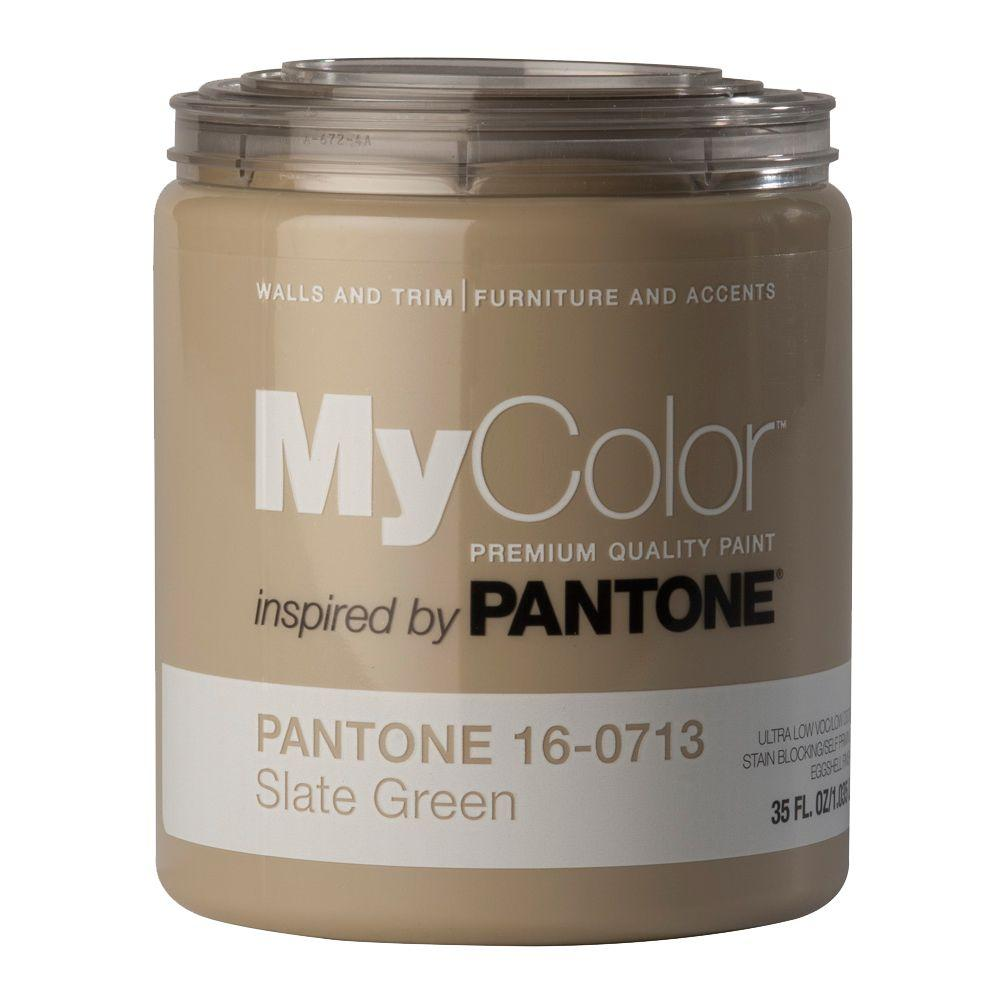 MyColor inspired by PANTONE 16-0713 Eggshell 35-oz. Slate Green Self Priming Paint-DISCONTINUED