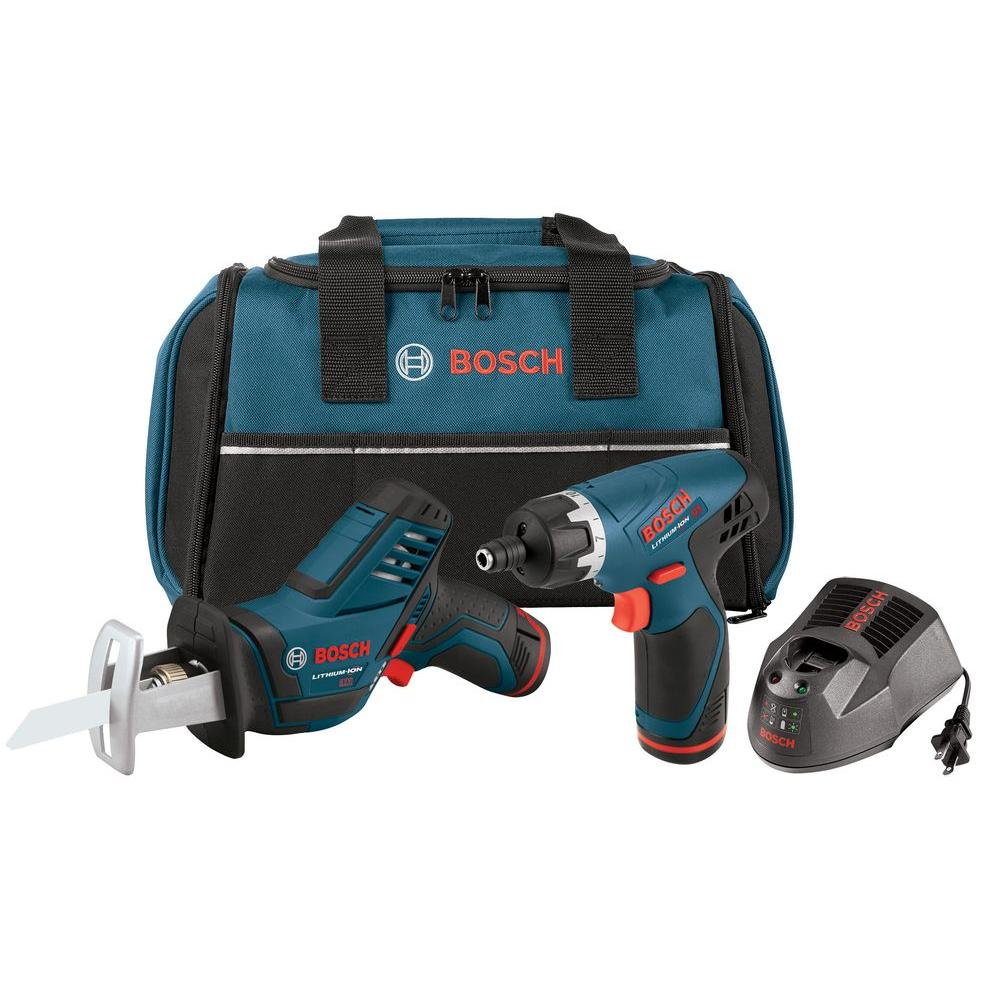 Bosch 12V Max Lithium-Ion PS60 Pocket Reciprocating Saw with PS20 Pocket Driver