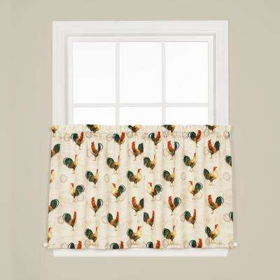 Tuscan Morning 24 in. L Polyester Tier Pair in Multi