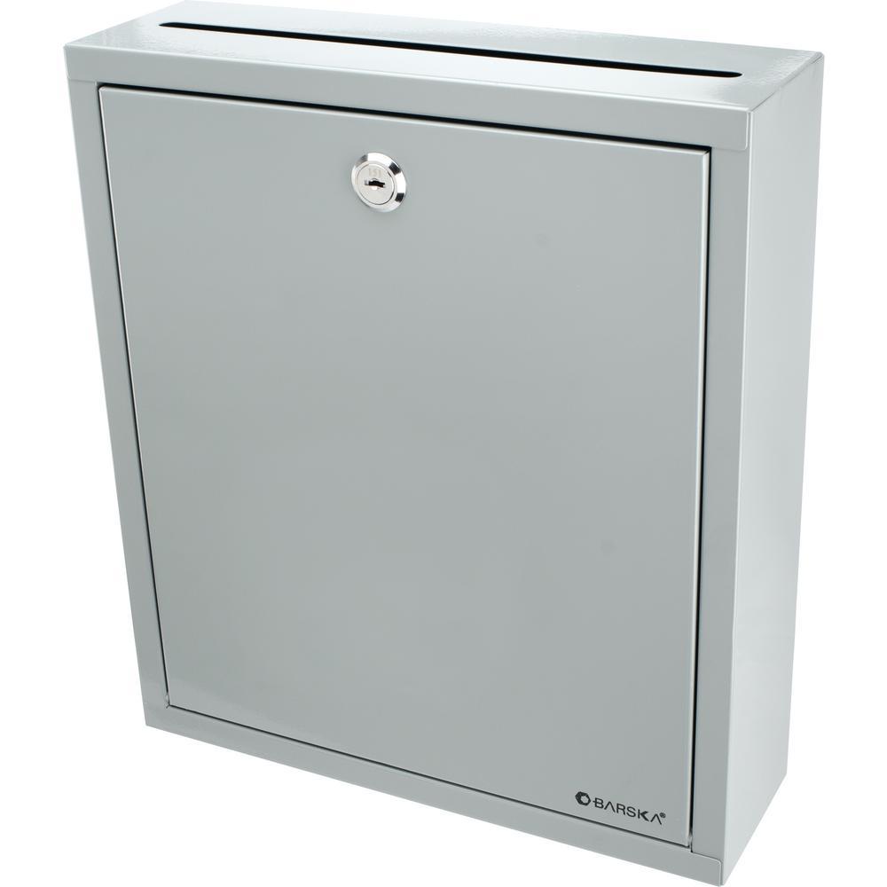 0.3 cu. ft. Steel Large Multi-Purpose Safe Drop Box, Gray