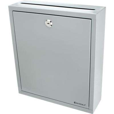 0.3 cu. ft. Steel Large Multi-Purpose Safe Drop Box, Gray