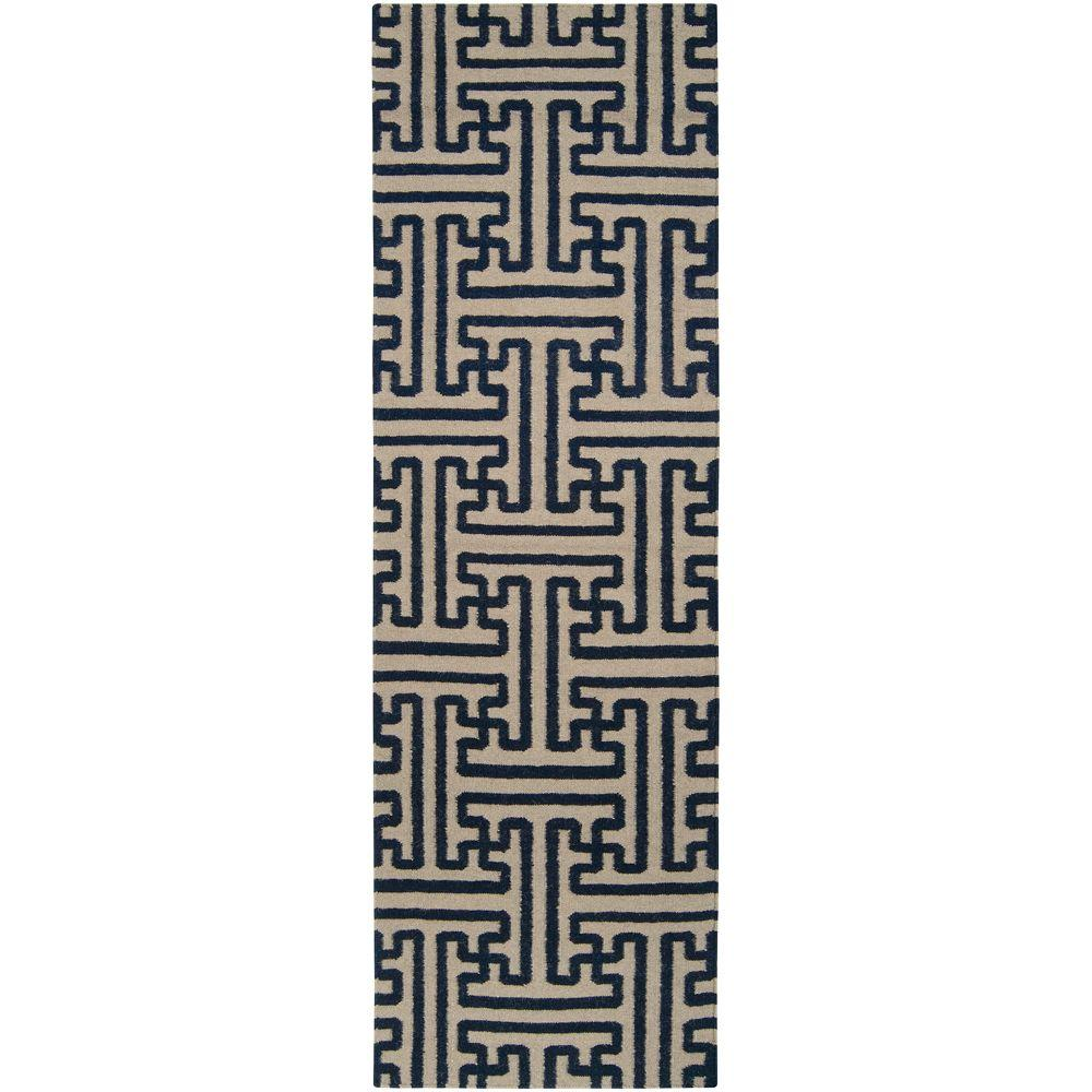 Surya Smithsonian Navy 2 ft. 6 in. x 8 ft. Flatweave Rug Runner