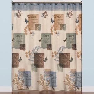 Saturday Knight Faith 72 inch Blue Polyester Shower Curtain by Saturday Knight