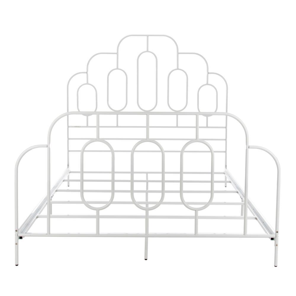 Paloma Metal Retro White Queen Bed