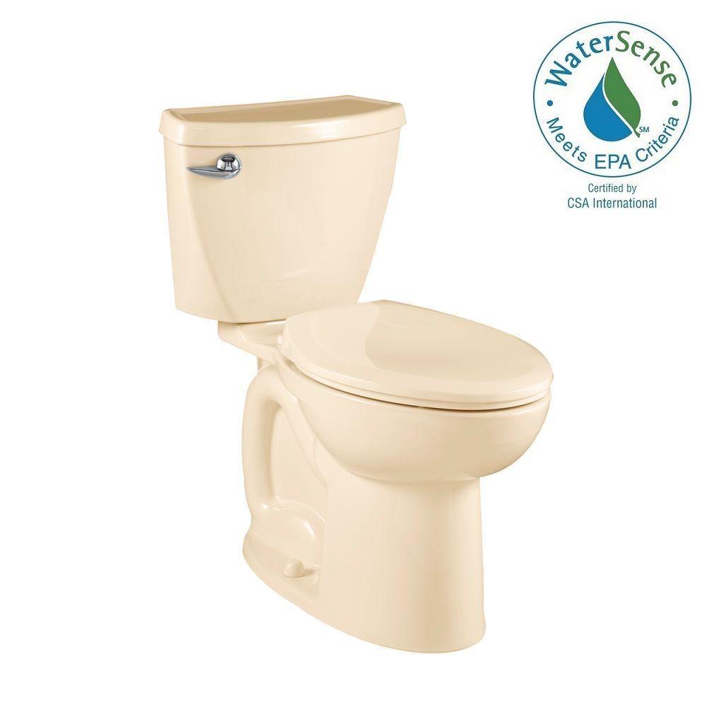 Cadet 3 Powerwash Compact Tall Height 2-piece 1.28 GPF Elongated Toilet in Bone