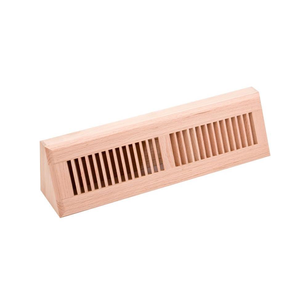 4.5 in. x 18 in. Wood Red Oak Unfinished Base Board Diffuser