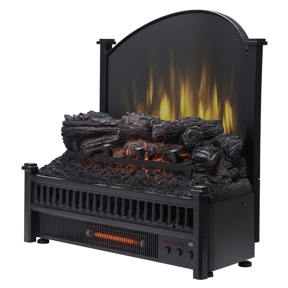 Pleasant Hearth 23 in. Electric Fireplace Logs with Removable Fireback and Heater