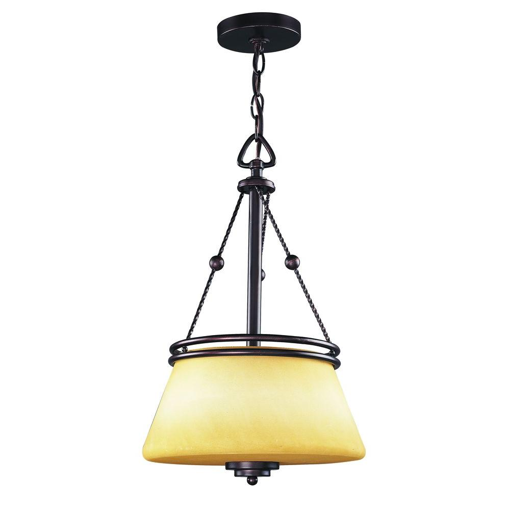 Tulen Lawrence Collection 2-Light Oil Rubbed Bronze Pendant-DISCONTINUED
