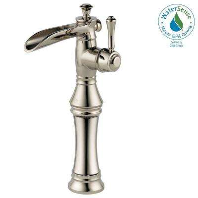 Cassidy Single Hole Single-Handle Open Channel Spout Vessel Bathroom Faucet in Polished Nickel