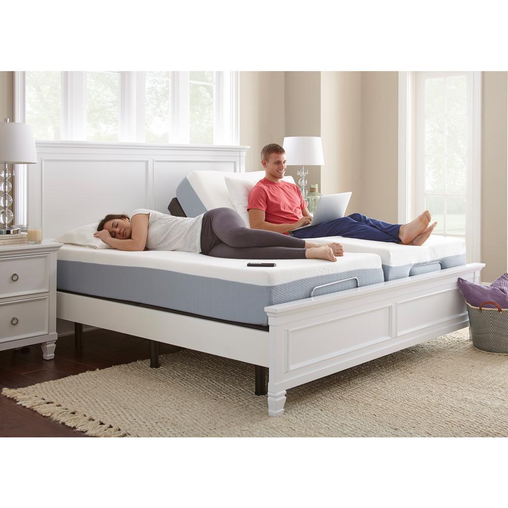 Split Shared Bedroom Ideas: Rest Rite Premium Lifestyle Split King Bed Base HD3001NBEK