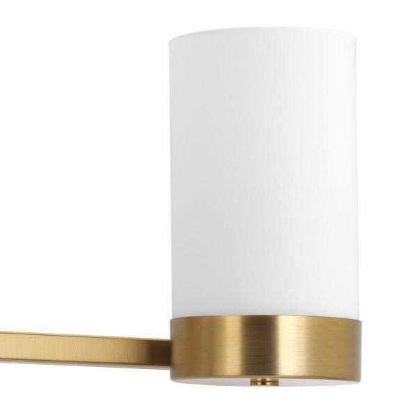 Progress Lighting Elevate Collection 4 Light Brushed Bronze Bathroom Vanity Light With Glass Shades P300023 109 The Home Depot