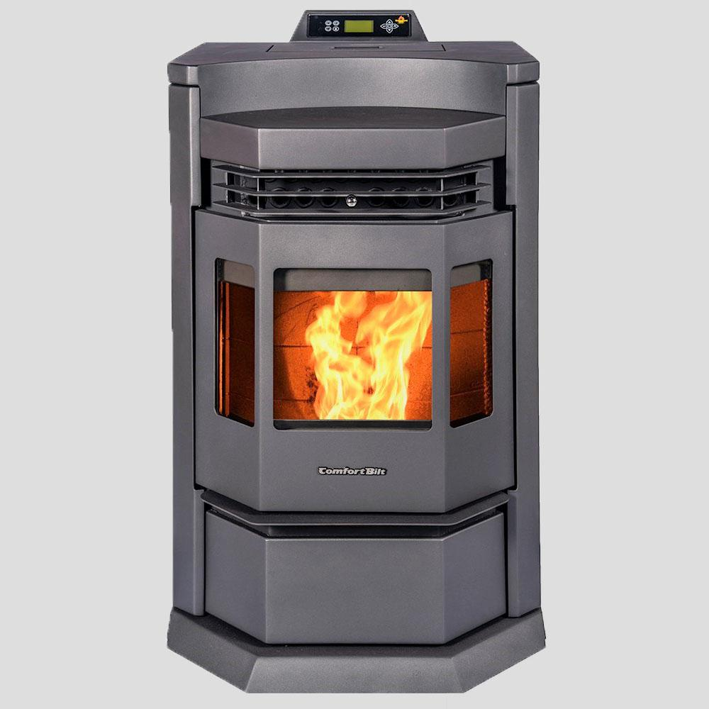 Comfortbilt 2800 Sq Ft Epa Certified Pellet Stove With 80 Lb Hopper And Programmable Thermostat