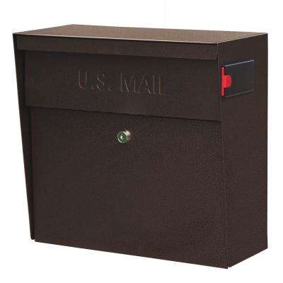 Metro Locking Wall-Mount Mailbox with High Security Patented Lock, Bronze