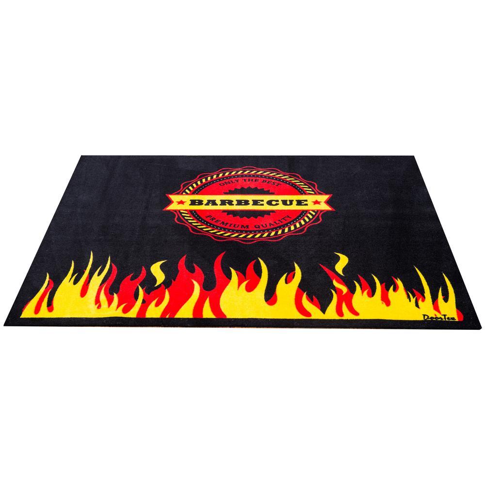 Doortex® Flame 39 in. x 48 in. Rectangular Fire Retardant BBQ Mat