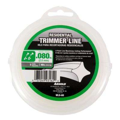 40 ft. Residential 0.080 in. Trimmer Line fits Most Straight and Curved Shaft String Trimmers